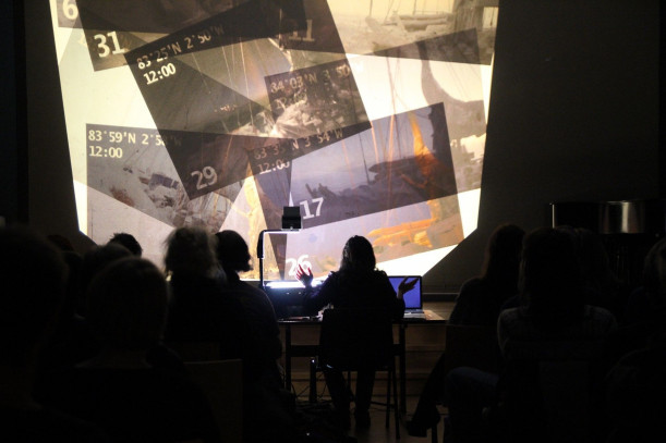 Ellie Ga performs The Fortunetellers at Kunsthall Oslo-Diechmanske Library. Photograph courtesy t...