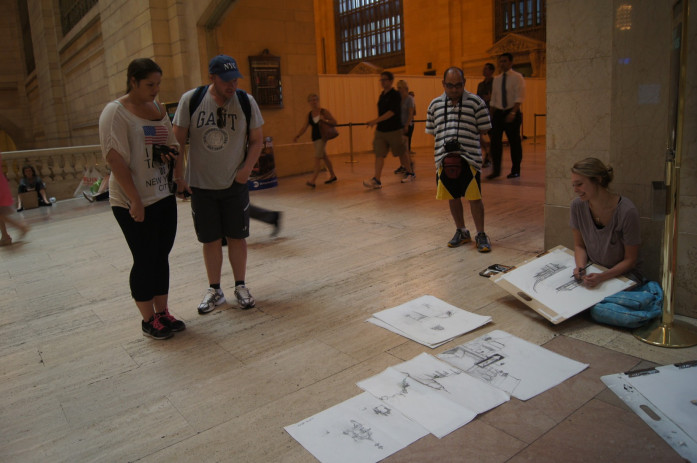 Drawing on Location: New York City, Grand Central Station