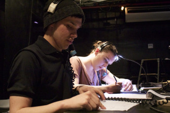Producing & Management students Chris Steckel '14 and Fiona Murray '16 (Directing Projects).