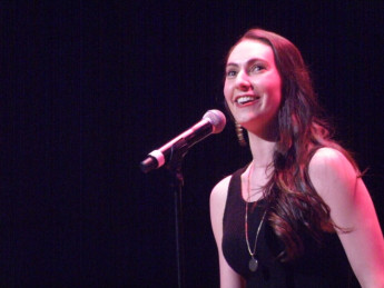 Alumna Ally Kupferberg singing at the 2015 BROADWAY RISING STARS (Town Hall, NYC)!