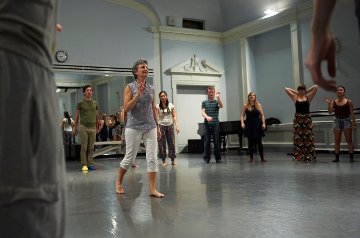 Barbara Adrian, Professor of Theatre Arts, in rehearsal with the cast of Stage Door (Fall 2013)